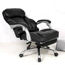 comfortable office. Comfortable Lifting Computer Chair 170 Degrees Lying Home Office Luxury PU Material Boss Seat