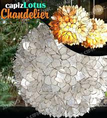 capiz flower chandelier lotus chandelier capiz shell flower chandelier