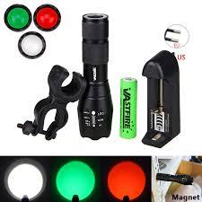 Green/Red/White LED <b>5000LM</b> Light <b>Hunting Flashlight</b> 3X AAA ...