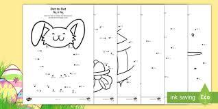 Easter Dot To Dot Worksheet Worksheets Englishhindi Eyfs Early