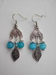 jade beads dangle earrings