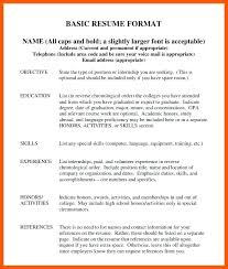 How A Resume Should Look Simple 60 How A Basic Resume Should Look Infoe Link