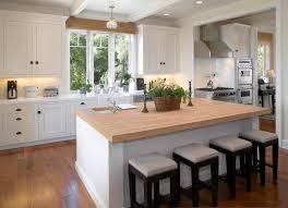 dazzling butcher block island in kitchen modern