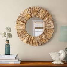 Driftwood Vanity Light Charming Drift Wood Accent Mirror Round White Driftwood