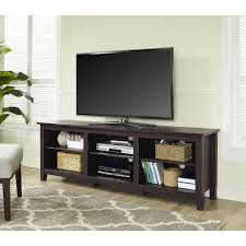 tv stand with shelves. Brilliant Shelves Wood TV Stand For TVs Up To 70 On Tv With Shelves O