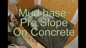 how to install a mortar shower pan on concrete pre slope pre pitch