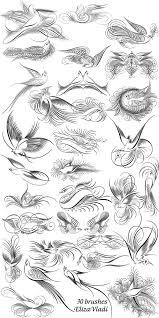 Free Brushes Abr Bird Of Happiness By Elizavladi Vzory
