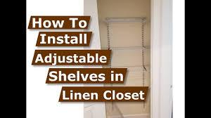 diy linen closet organization ideas installing adjule shelving