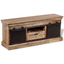 handmade tv stand. Modren Stand Daonanba Sturdy TV Stand Cabinet Full Handmade Durable Low Side  With 2 Sliding With Tv