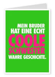 Coole Schwester Liebe Echte Postkarten Online Versenden