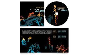 Microsoft Word Cd Templates Jazz Music Event Cd Booklet Template Word Publisher