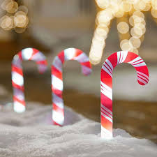 Christmas Candy Cane Garden Stake Lights Set Of 4 Christmas Pathway Candy Cane Walkway Light Light Kit Stakes