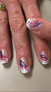 Gel Nail Designs For 4th Of July Patriotic Ideas Memorial Day 4th Of July Nail Art Design