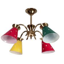 1960 s french chandelier p a small 4 light chandelier from the sixties made