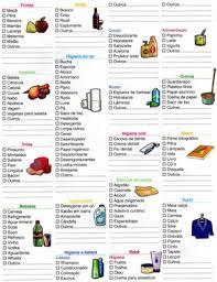 Lista De Compras Para El Supermercado Lista De Compras Para Supermercado Completa Dicas