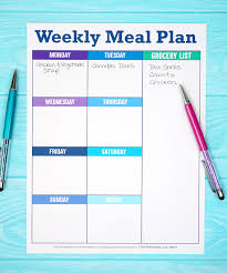 Weekly Meal Planning For One Printable Weekly Meal Planner Template Happiness Is Homemade
