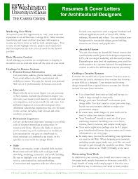 Resume Architectural Resume Examples