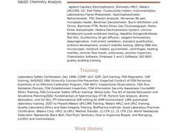 Chemist Resume Sample | Cvfree.pro