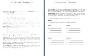 Sample Consignment Contract Template