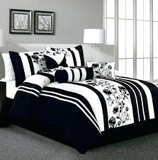 ... Black White Comforter Sets Queen Size And Damask Set 9 Piece Arroyo  Bedding ...
