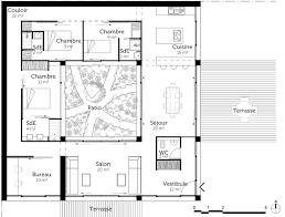 S Plan Maison Voir Plan De Maison Cubique Avec Patio