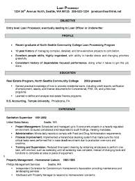 Loan Processor Resume Example Loan Processor Resume Newest Loan