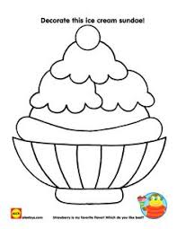 ice cream sundae coloring page. Contemporary Page Create A Starman Craft Color An Ice Cream Sundae Or Search For Summer  Words In Crossword Puzzle Download And Print These Free Printables Intended Ice Cream Sundae Coloring Page D