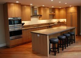 Apartment Kitchens Naturally Brown Finishing Small Kitchen Apartment Wooden Wall