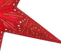 Faltbarer Advents Leucht Papierstern Weihnachtsstern 60 Cm Dadari Rot