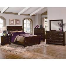 Bedroom Sets Hanover 812 6 pc Queen Sleigh Bedroom Set - Cherry at ...