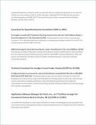 Sap Hr Resume Sample Stunning 48 Best Of Human Resource Generalist Resume Photographs