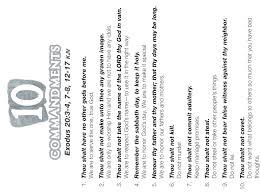Free Printable Ten Commandments Coloring Pages Ten Commandment