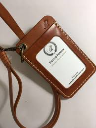 leather id card holder with leather lanyard men s fashion accessories others on carou