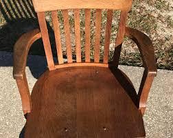 antique wood swivel desk chairs. antique oak desk chair, revolving , swivel, office ,arm chair ( wood swivel chairs