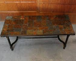 slate coffee table slate top coffee table slate tile coffee table set
