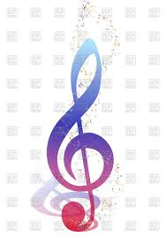 Musical Treble Clef Vector Illustration Of Icons And Emblems