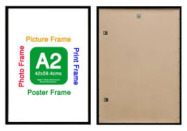 a2 bulk ready made black wood frame suits 42x59 4cm paper with