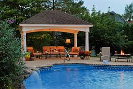 Hardtop Gazebo With Mosquito Netting  Best Hard Top Gazebo Ideas - Outdoor kitchen designs with pool