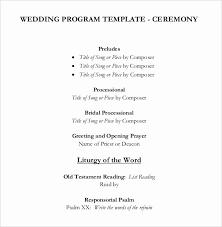Wedding Program Templates 15 Free Word Pdf Psd Latter