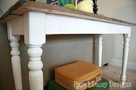 build a sofa table diy with storage plans rustic