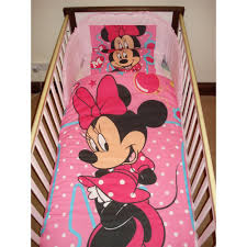 disney minnie mouse cot bedding set couk baby