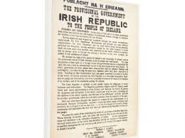 Irish Proclamation <b>1916</b> Canvas <b>Wall</b> Hanging Frame Brand New In ...