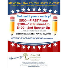 memorial day youth essay contest in osceola in apr  memorial day youth essay contest photo 1