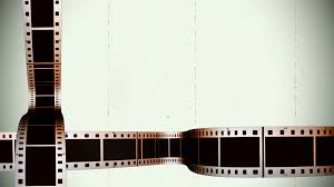 Film Strips Pictures Damaged Film With Scrolling Filmstrips Motion Background