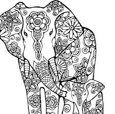 abstract free coloring pages elephant