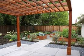 Landscape Design Mountain View Ca Pergola Raised Garden Beds And Sustainable Native Plants
