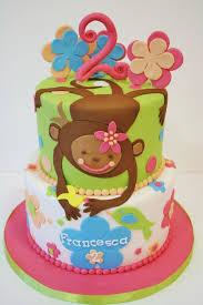 Second Birthday Cakes Nj Girl Monkey Custom Cakes Sweet Grace