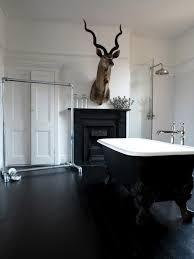 Bathroom Black And White Retro Classic Interior Bathroom Design