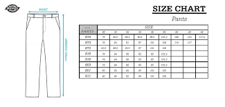Timeless Dickies Clothing Size Chart 2019