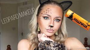 glam leopard cheetah cat makeup tutorial fancy dress